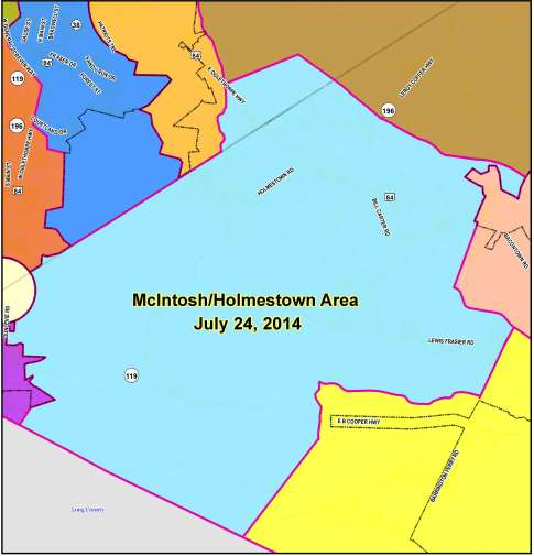 McIntosh-Holmestown Flyer Map