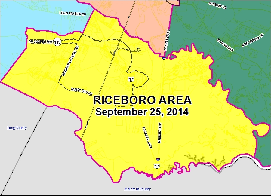 Riceboro Flyer Map